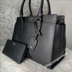 kate spade Bags - Kate Spade Cameron MD Leather Satchel Wallet Set